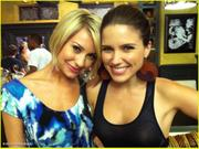 Chelsea Kane & Sophia Bush - On the set of One Tree Hill